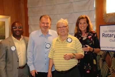 Kim Nyoni presents awards of PH+1 to Bert Reiner, PH+4 to Val Hatley, and PH+6 to Kathy Dalvey