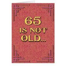 65 años y ya eres anciano!!!