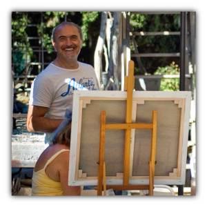 Stage de peinture en Camargue avec Jean GUERRERO à LA TABLE A RALLONGE