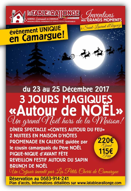 Séjours clé en main et originales fêtes de Noël 2017 en Camargue