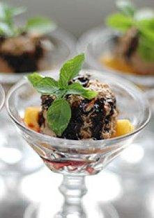 Pêche au thon et caramel de vinaigre balsamique
