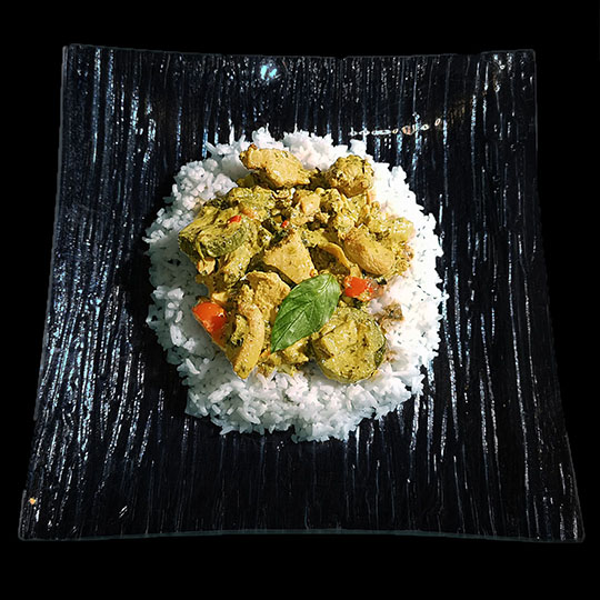 jeudi 27 août 2020 - curry vert au poulet thaï