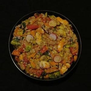 Salade fraîcheur au quinoa et crevettes
