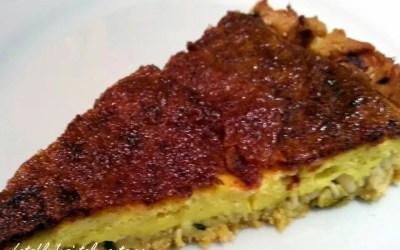 TARTE A L'AIL ROSE DE LAUTREC sans gluten, faible ou sans lactose,avec ou sans œuf