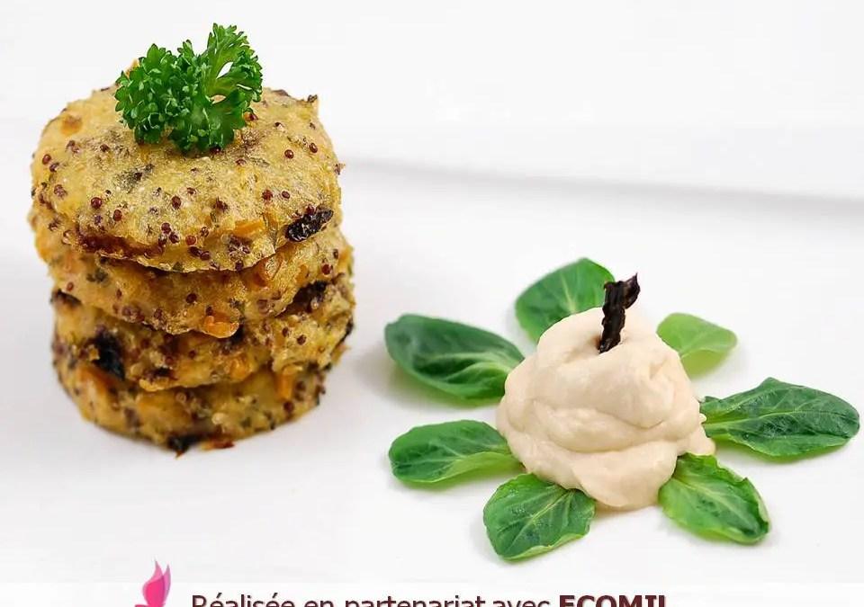GALETTES VEGAN DE POLENTA AU MAÏS ET CHANTILLY ÉPICÉE sans gluten
