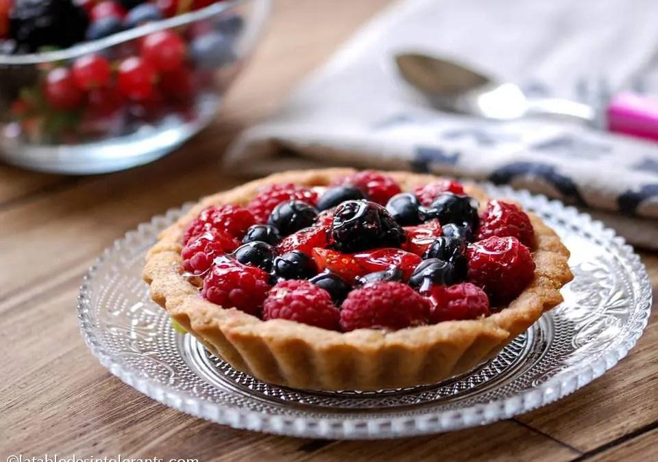 TARTELETTES AUX FRUITS ROUGES sans gluten, sans lait, avec ou sans sucre, sans levure, avec ou sans œuf