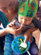 A local baby getting the nutrition they need