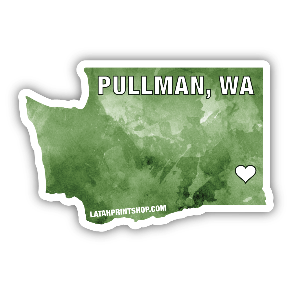 Washington home city vinyl sticker