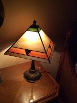 Lampada in vetro tecnica Tiffany