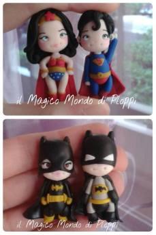 Il Magico mondo di Ploppi - Wonder Woman e superman e Batman e Batgirl