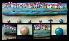Pebble Art - La città sul mare