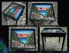 Pebble Art - Tavolino con vetro