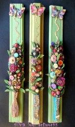 Silvia-Logi-Artworks - 3 bouquet verdi