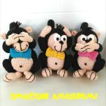 Emozioni Anigurumi - Le tre scimmiette