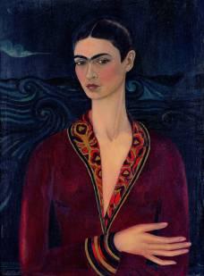Autoritratto con vestito di velluto - Opera di Frida Kahlo del 1925