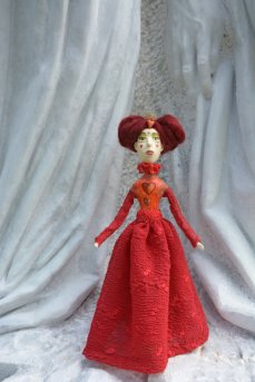 Pupillae Art Dolls - Bambola artistica Regina di Cuori