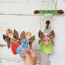 Pupillae Art Dolls - Guardian Angel Paper Dolls