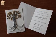 A Creative Family - Biglietto d'Auguri con Albero