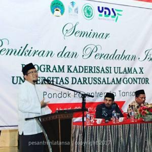 Seminar Pemikiran dan Peradaban Islam oleh Mahasiswa Program Kaderisasi Ulama X Universitas Darussalam Gontor