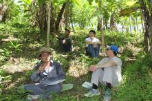 Discussions in agroforestry plot in Ban Phonsavang