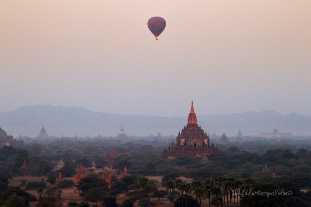 Myanmar a baloon over Bagan