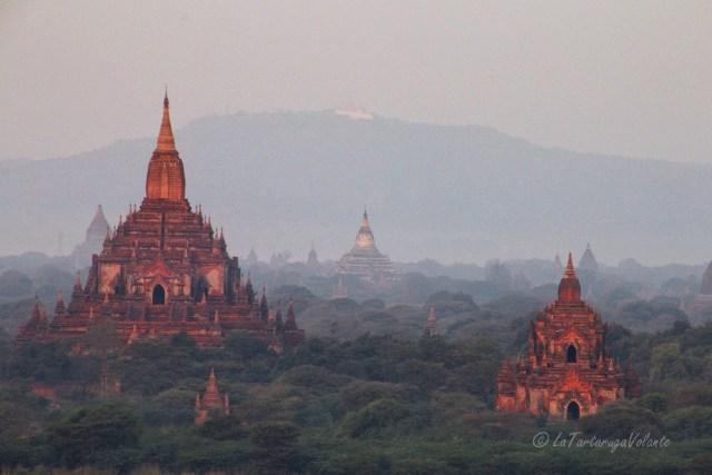 Myanmar balloning over Bagan al mattino