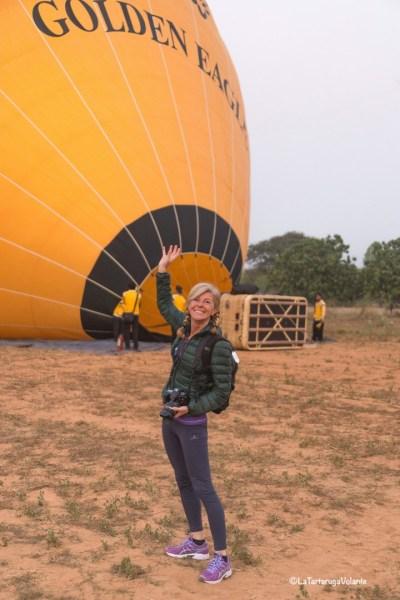 Viaggio in Myanmar, pronta per il balloning