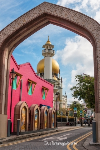 Singapore, cupola dorata della moschea