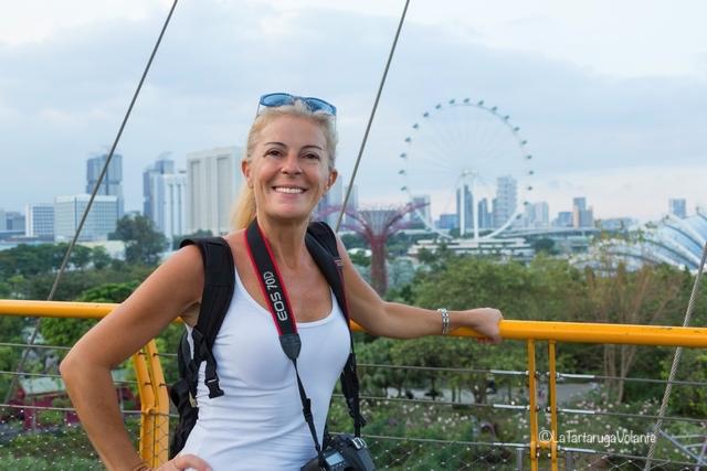 Singapore, io sullo sky walk