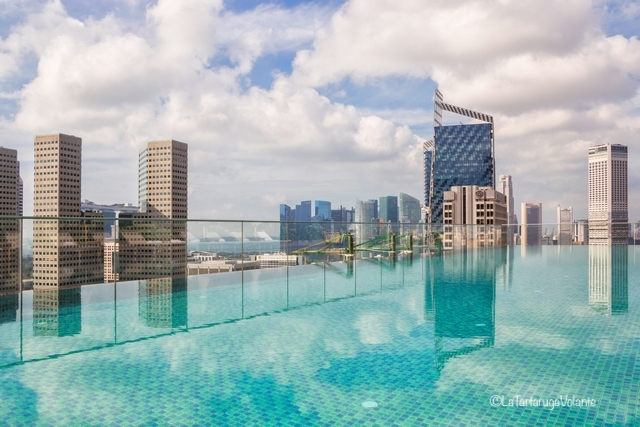 Singapore, vista dal grattacielo