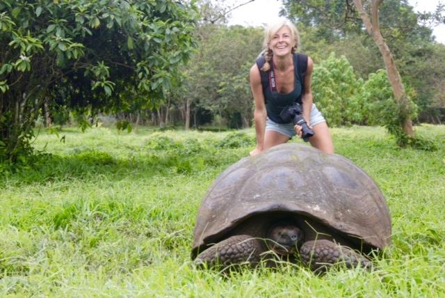 la tartaruga volante, io alle Galapagos
