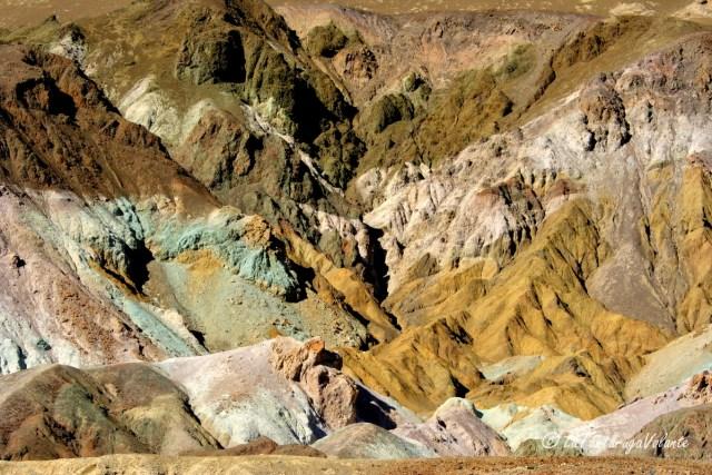 California, Death Valley palette di colori