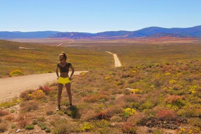 Sudafrica, io nel deserto fiorito