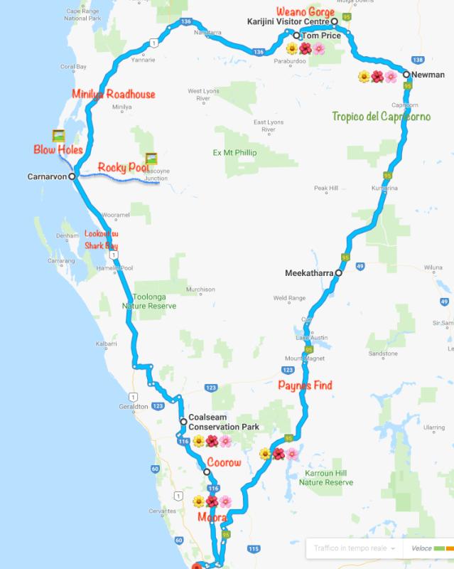 Itinerario outback WA