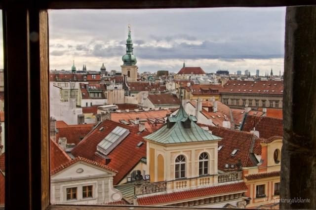 Praga, dalla torre come un quadro