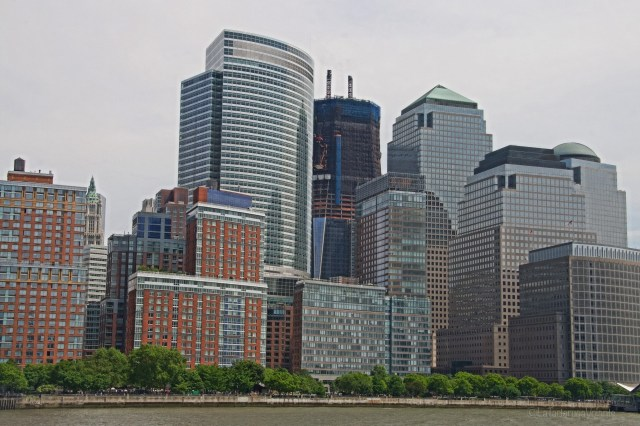 New York dal fiume Hudson
