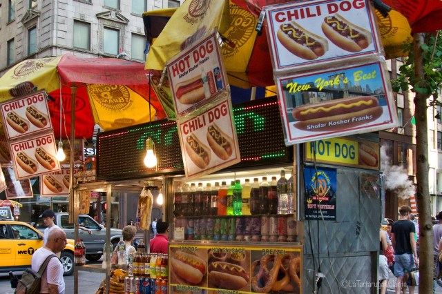 New York venditore di hot dog