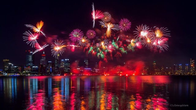 fotografare i fuochi d'artificio