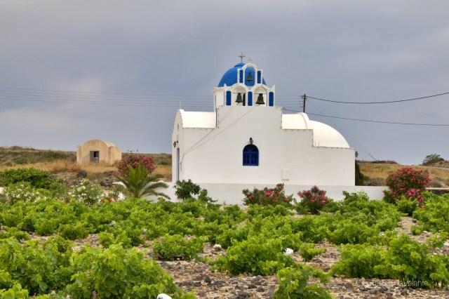 Santorini, viti e sud