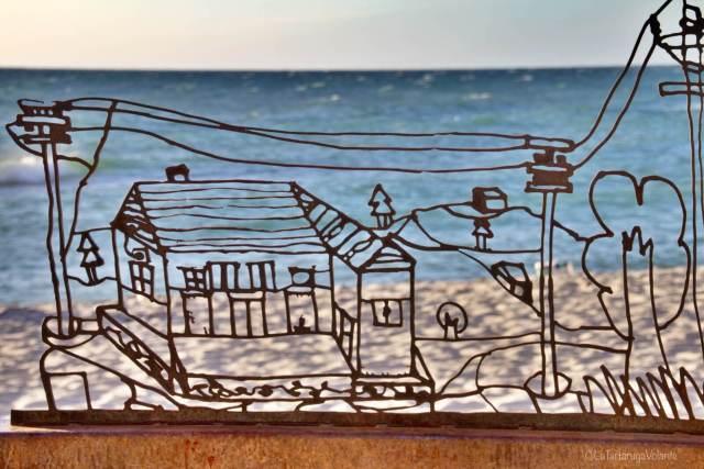 sculture sulla sabbia, la città