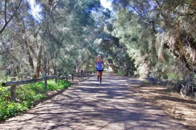 io che corro sul parco lungo il fiume