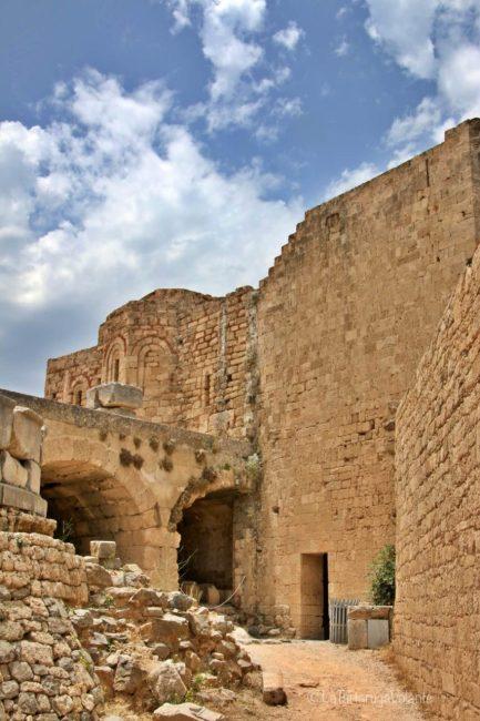Acropoli di Lindos particolare