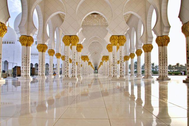 le colonne della moschea di abu dhabi