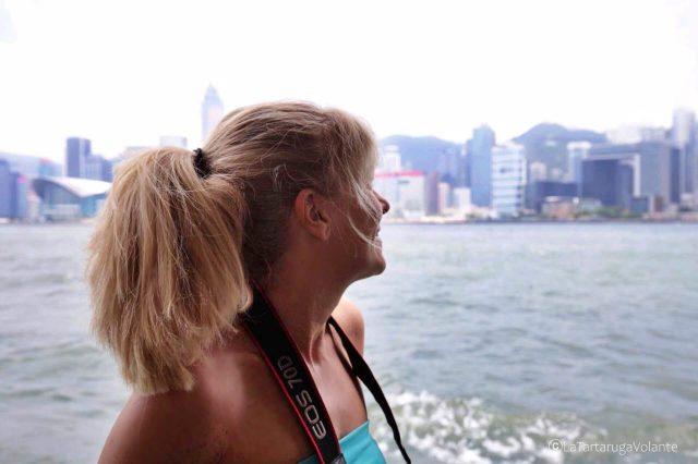 come muoversi e dove dormire ad Hong Kong, io nel ferry