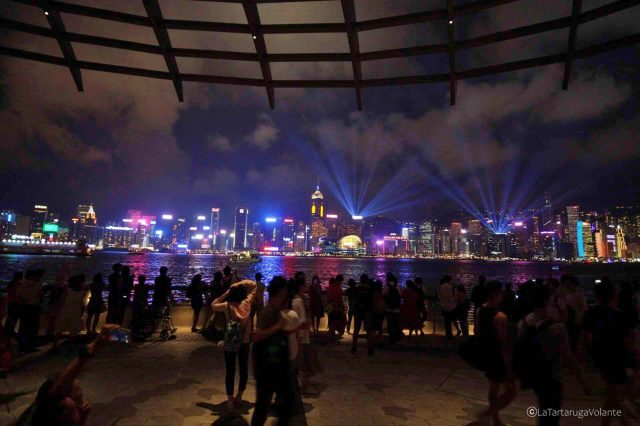 spettacolo delle luci, itinerario hong kong