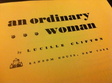 an ordinary woman by lucille clifton