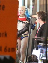 Will Smith, Margot Robbie, Jay Hernandez, Adam Beach, Adewale Akinnuoye-Agbaje, Jai Courtney and Karen Fukuhara seen on the sets of Suicide Squad