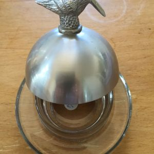 Butter Dish with Bird Lid
