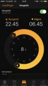 Funtionen Sengetid i i Ur-app'en på iPhone