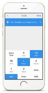 Slå notifikationer (advarsler) til i Calendar 5